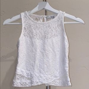Bershka White Lace Top